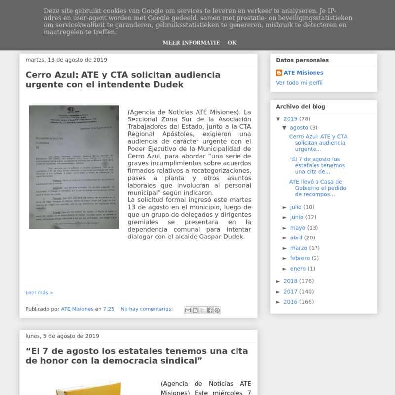 Agencia de noticias de ATE Misiones