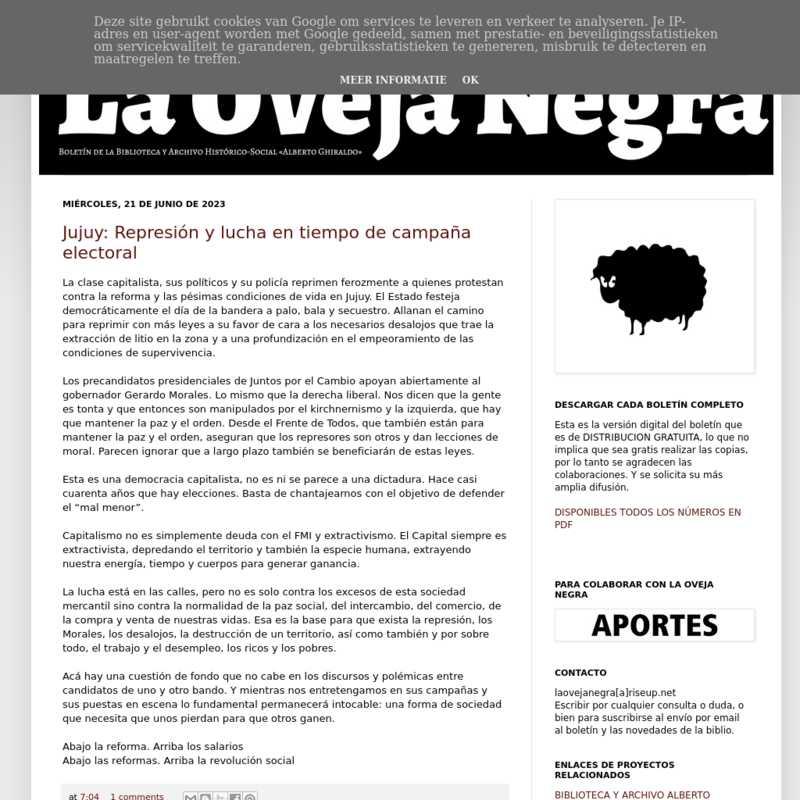 Boletín La Oveja Negra