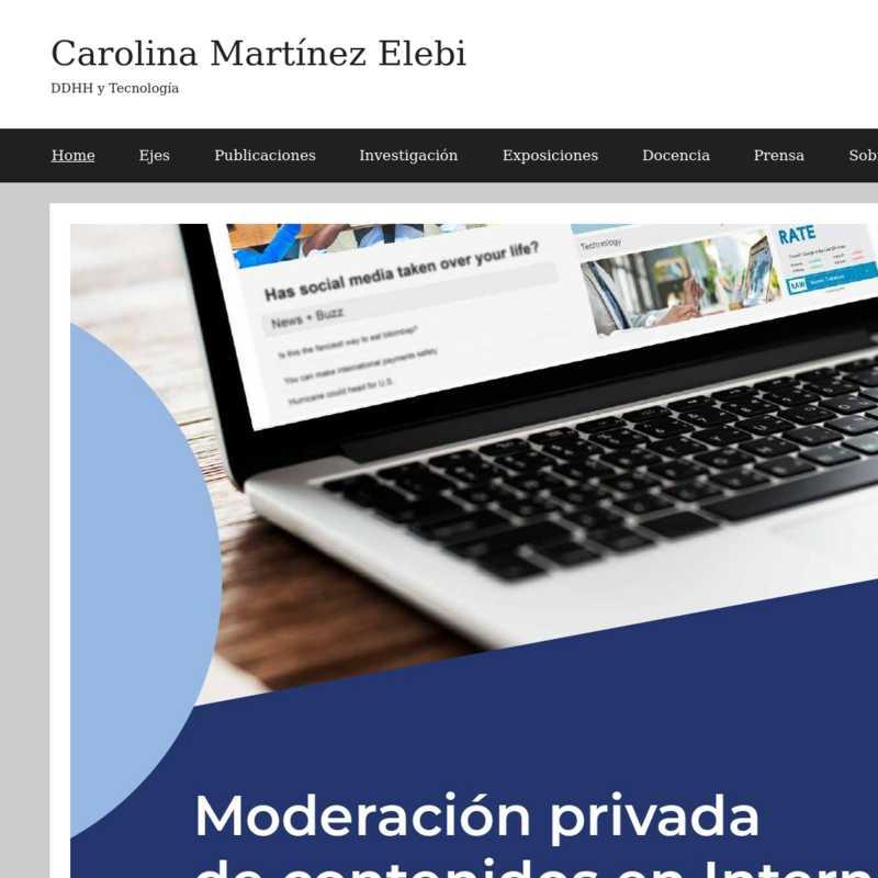 DDHH y Tecnología - Carolina Martínez Elebi