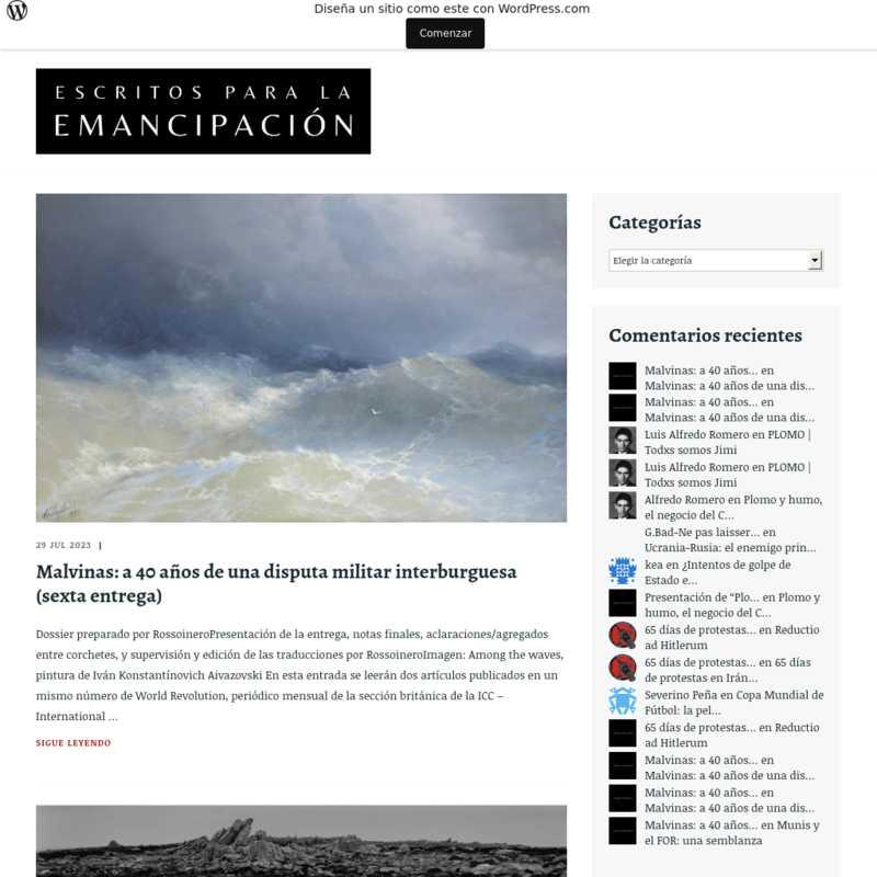 Escritos para la emancipación