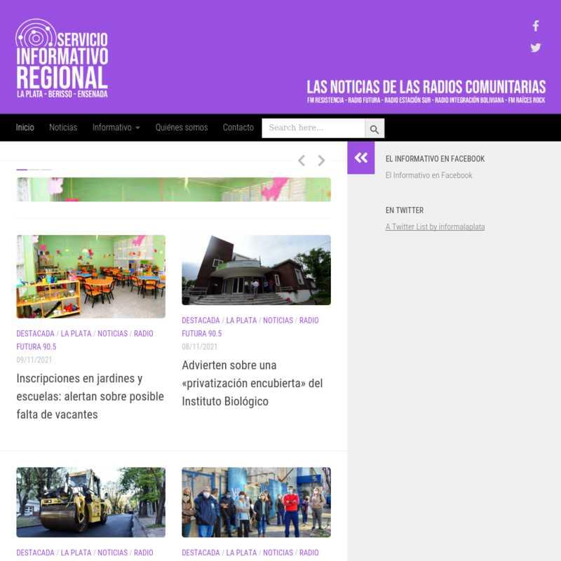 Servicio Informativo Regional (La Plata, Berisso, Ensenada)