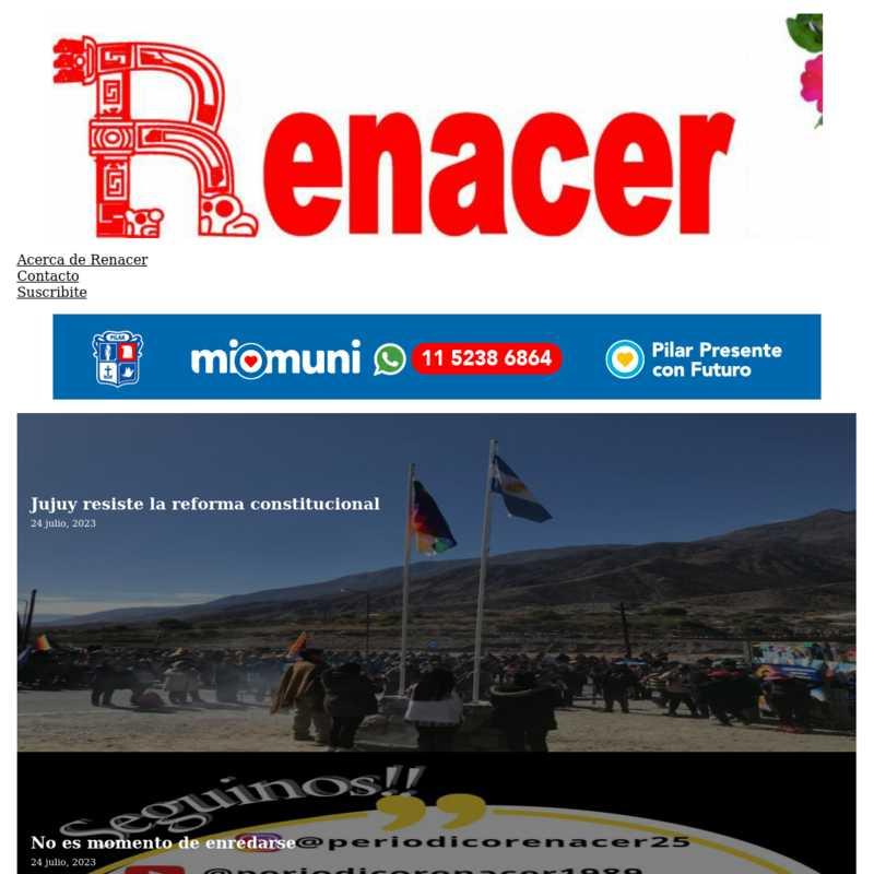 Periódico Renacer